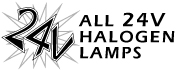 All 24 Volts Halogen Lamps