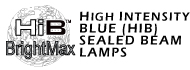 All High Intensity Blue (HIB) Sealed Beam Lamps